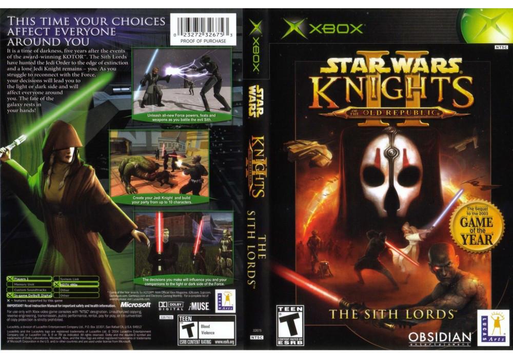 Игра для игровой консоли Xbox, Star Wars Knights Of The Old Republic 2