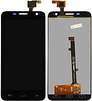 Модуль Alcatel 6012 Onetouch Idol Mini/6012A/6012D/6012W/6012X/6012E  черный, с передней панелью, оригинал (Китай) (дисплей + тачскрин)