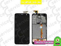 Модуль Alcatel 6012 Onetouch Idol Mini/6012A/6012D/6012W/6012X/6012E  черный, оригинал (Китай) (LCD, экран) (дисплей + тачскрин)