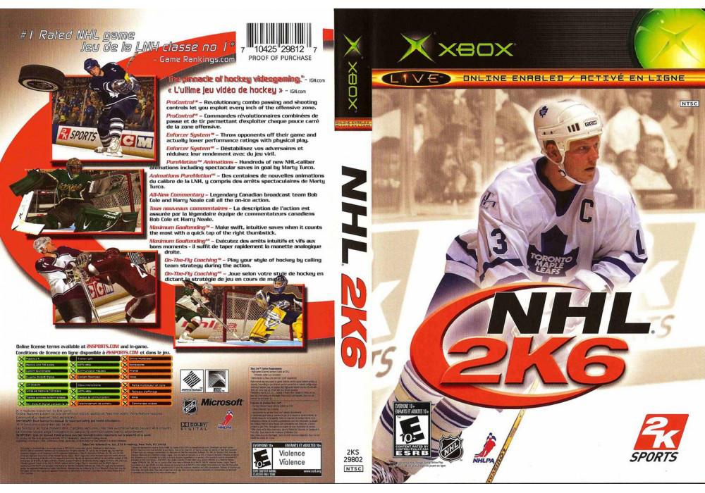 Игра для игровой консоли Xbox, NHL 2k6