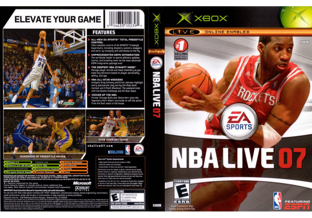 Игра для игровой консоли Xbox, NBA Live 07