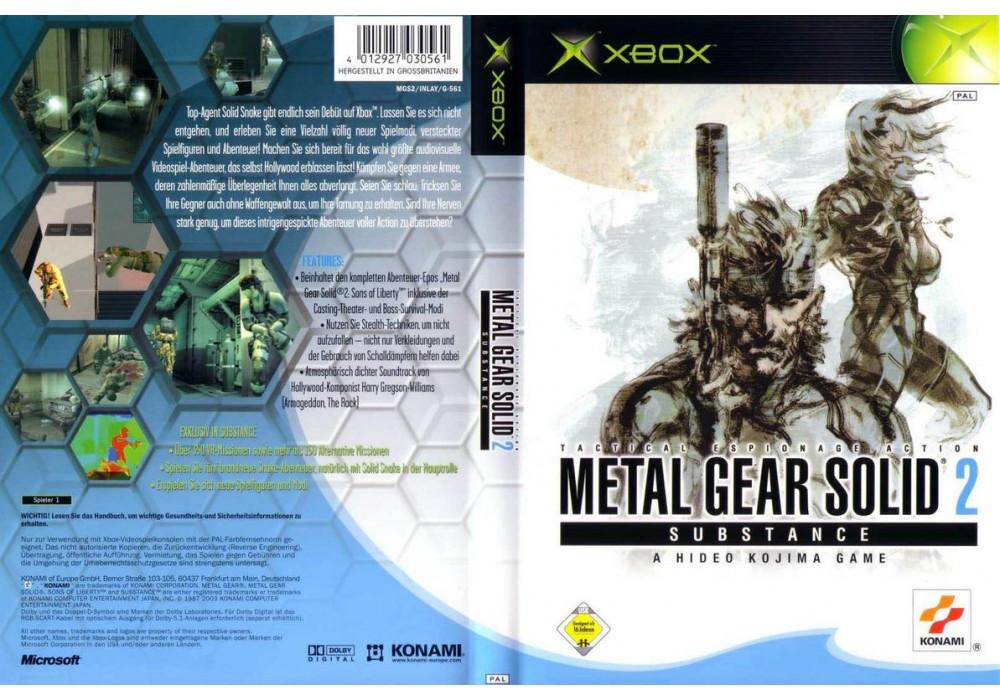 Игра для игровой консоли Xbox, Metal Gear Solid 2 Substance (2 DVD)