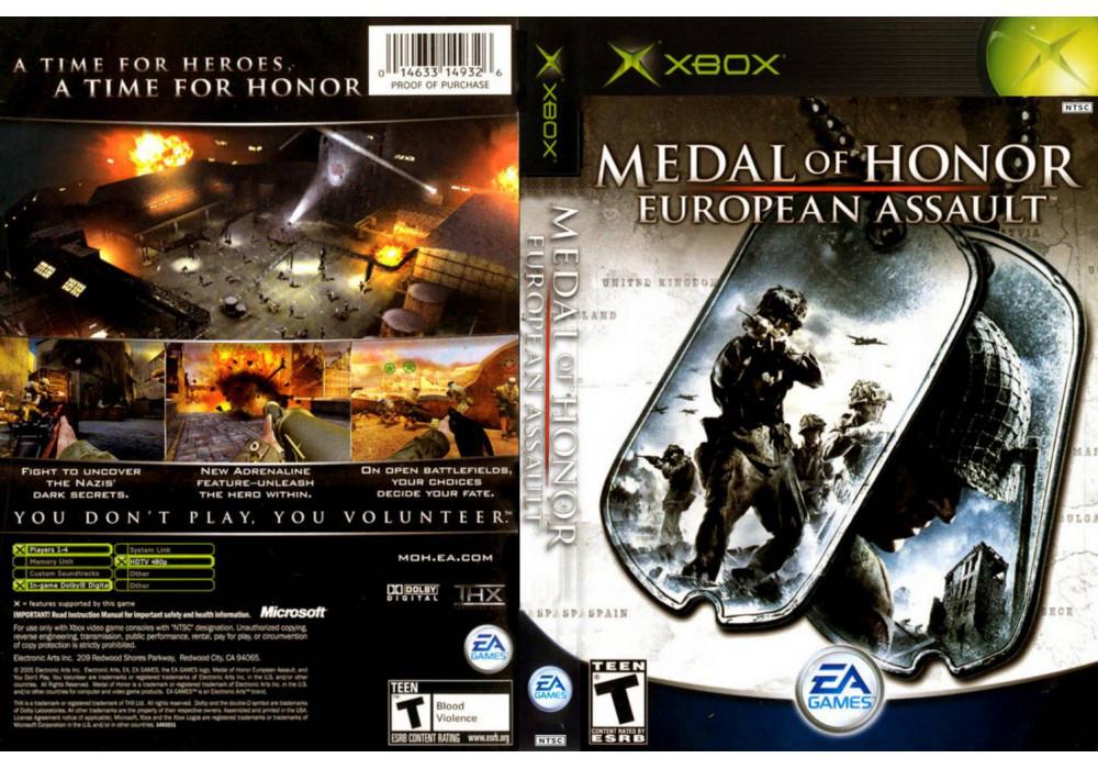 Игра для игровой консоли Xbox, Medal Of Honor European Assault