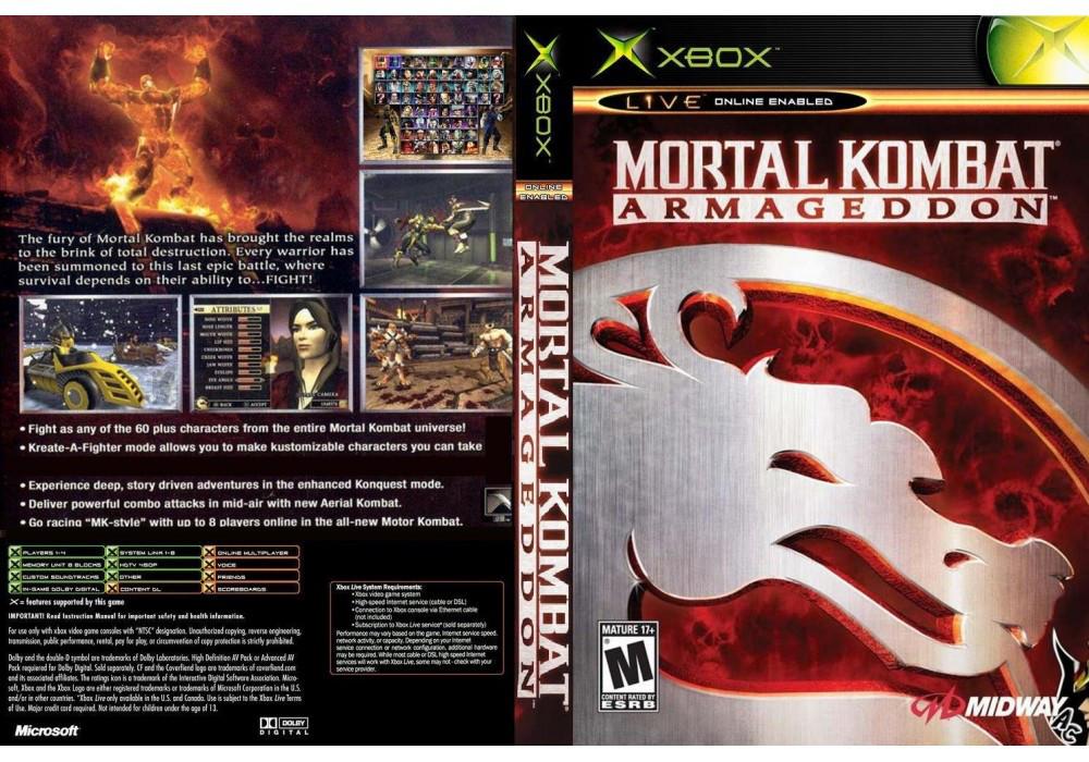 Игра для игровой консоли Xbox, Mortal Kombat Armageddon