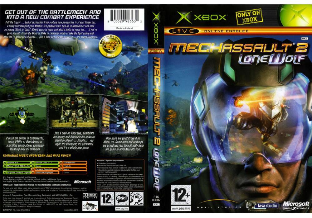 Игра для игровой консоли Xbox, Mechassault 2 Lone Wolf
