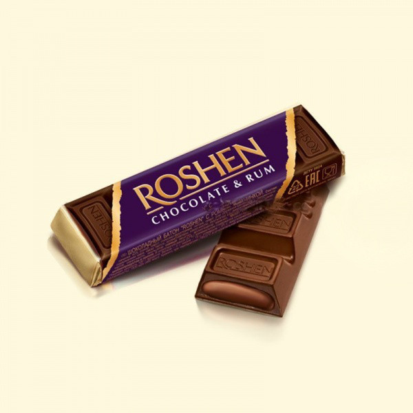 Батончик Рошен шоколадный с ромовой начинкой 43г