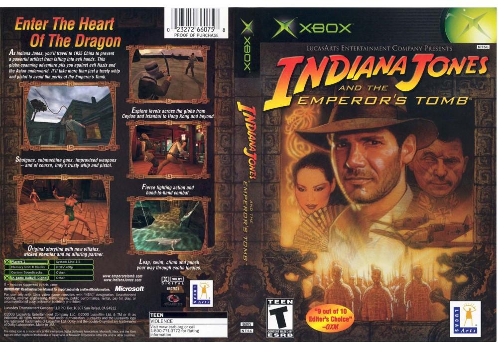 Игра для игровой консоли Xbox, Indiana Jones And The Emperors Tomb