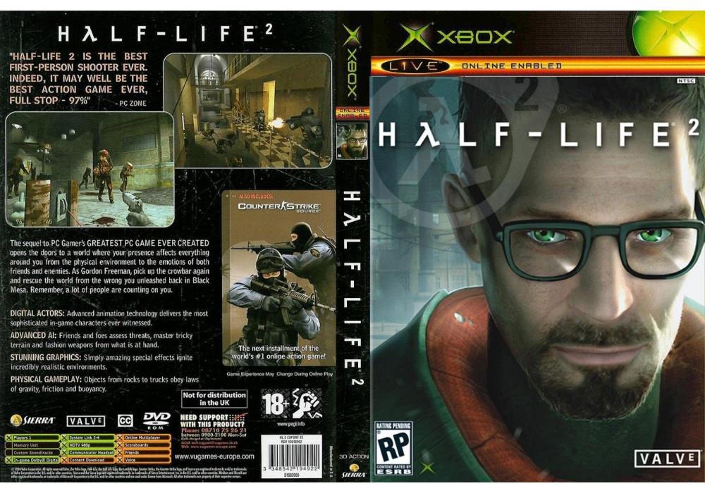 Игра для игровой консоли Xbox, Half-Life 2