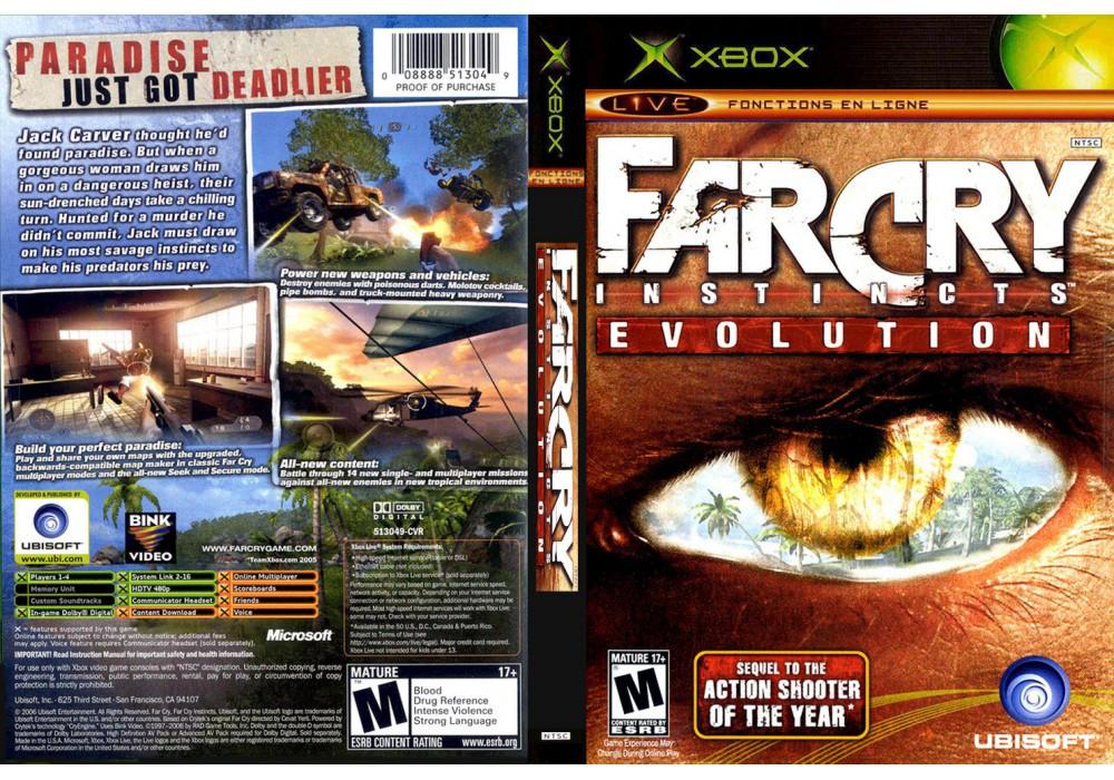 Игра для игровой консоли Xbox, Far Cry Instincts Evolution