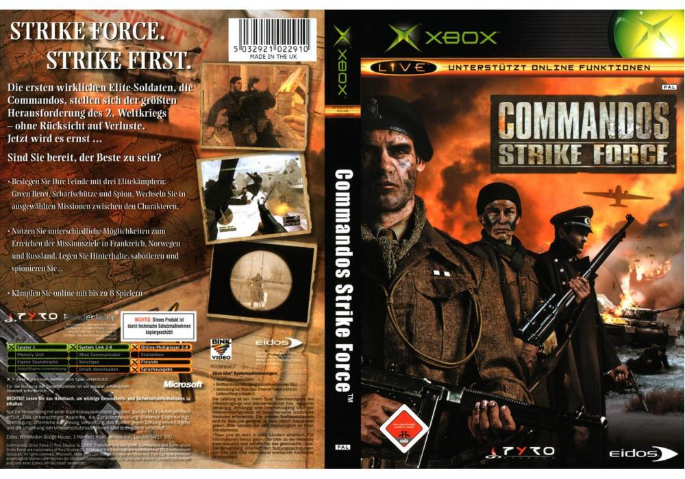 Гра для ігрової консолі Xbox, Commandos-Strike Force