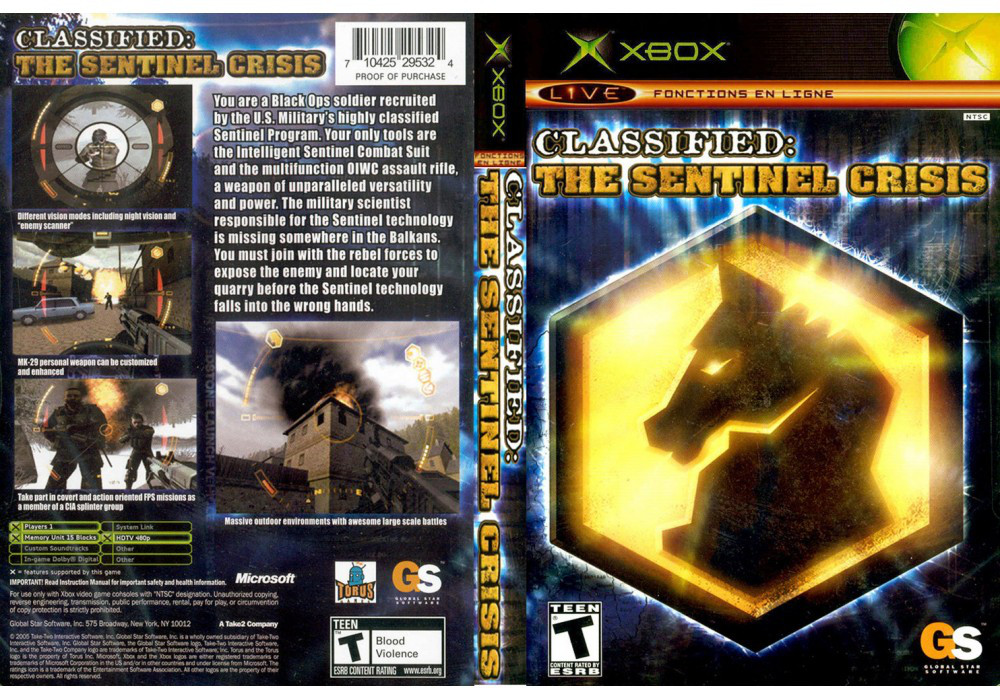 Игра для игровой консоли Xbox, Classified: The Sentinel Crisis