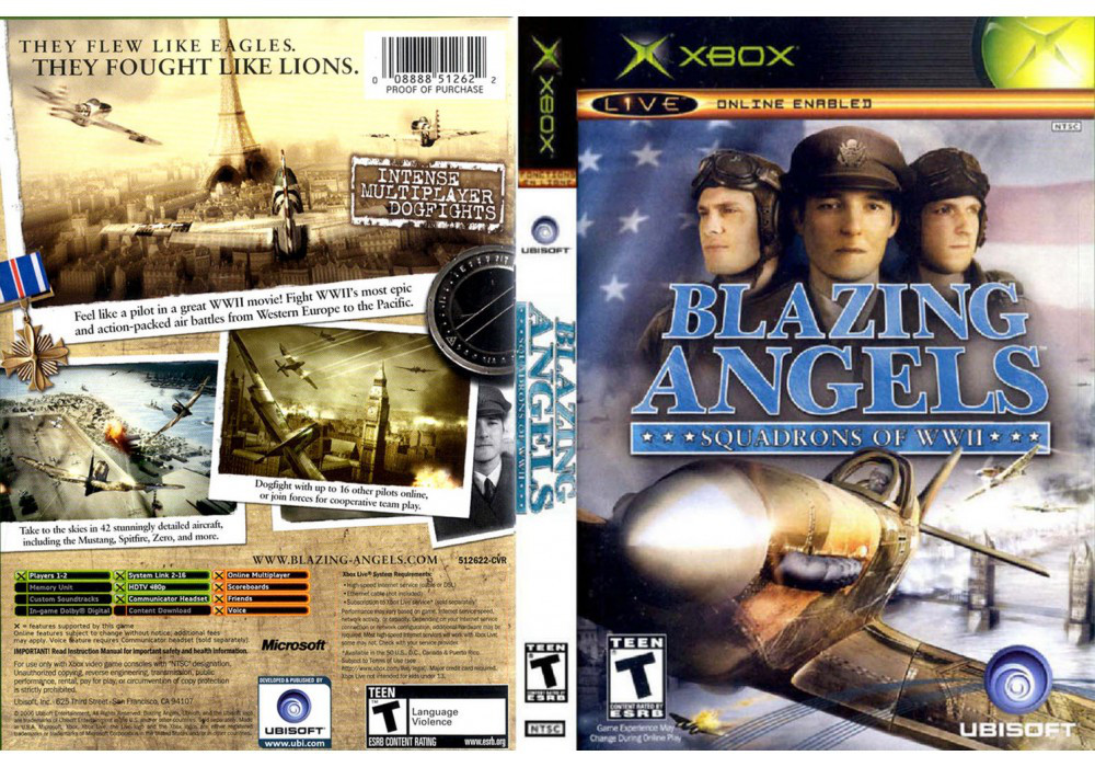 Игра для игровой консоли Xbox, Blazing Angels Squadrons Of Wwii