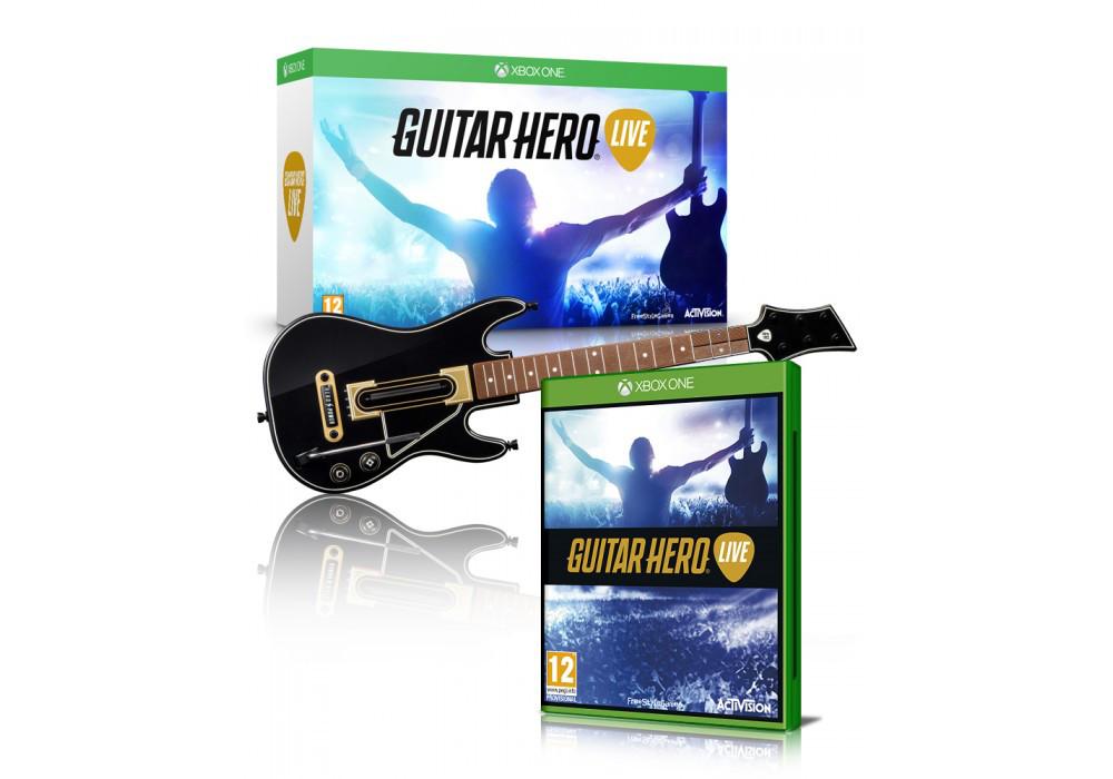 Игра для игровой консоли Xbox One, Guitar Hero Live (Контроллер Гитара + игра, Xbox One)