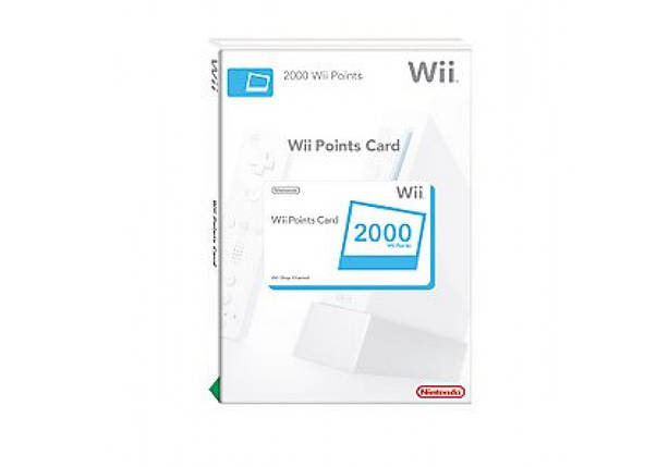 2 000 Wii Points Card (Europe), фото 2