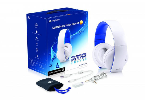 PS4 Wireless Headset(2.0)White, фото 2