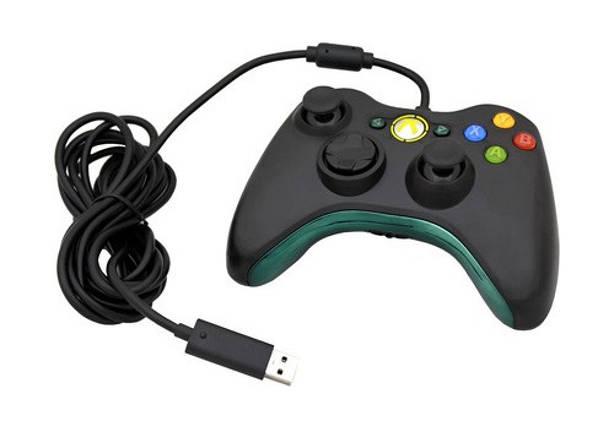 Xbox 360 Gamepad Controller (проводной, черный), фото 2