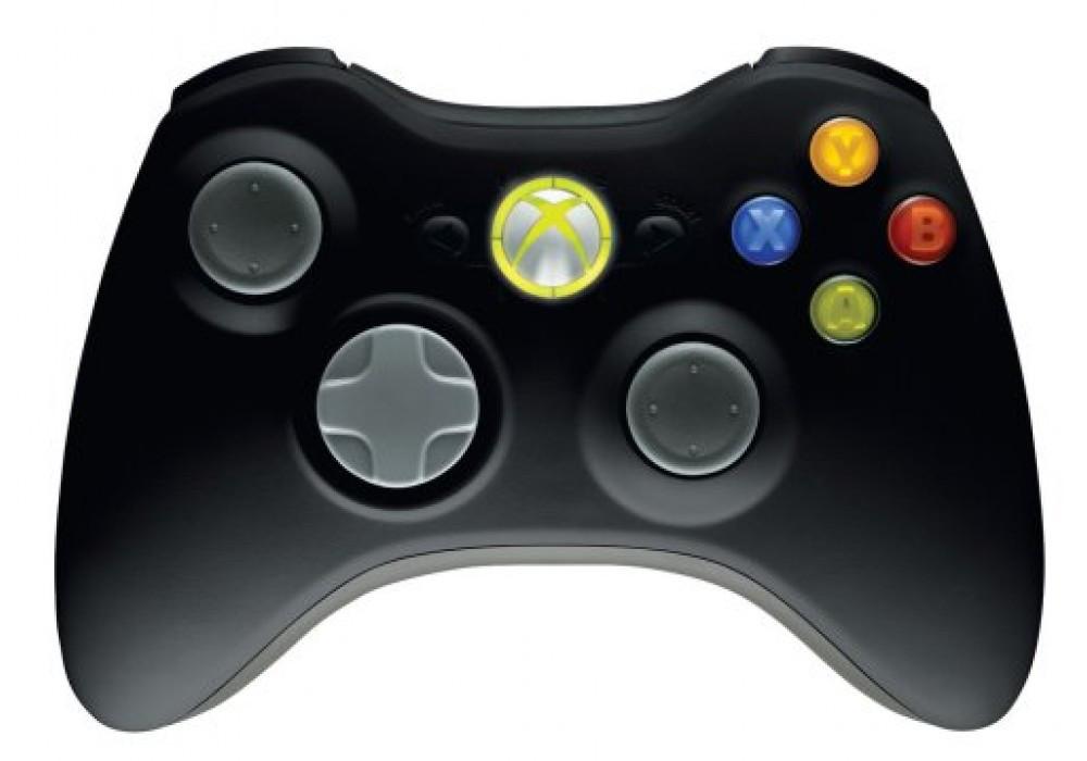 Геймпад (Xbox 360, оригинальный, беспроводной, черный)