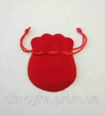 Мешочек бархатный для ювелирных изделий, 6*8 см. Красный