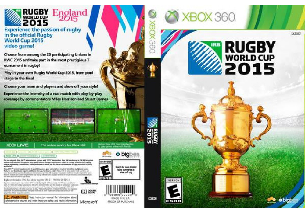 Игра для игровой консоли Xbox 360, Rugby World Cup 2015