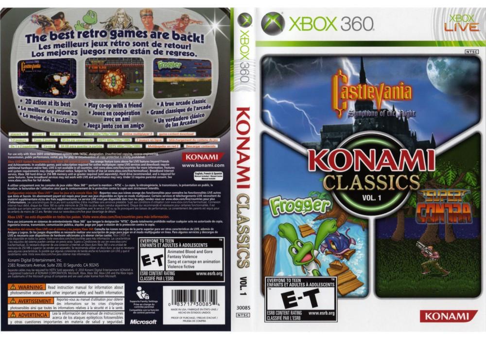 Игра для игровой консоли Xbox 360, Konami Classics Volume 1