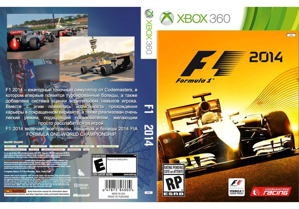Игра для игровой консоли Xbox 360, F1 2014