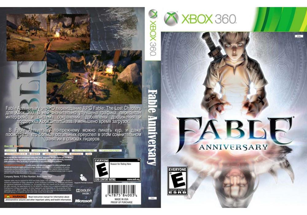 Игра для игровой консоли Xbox 360, Fable Anniversary