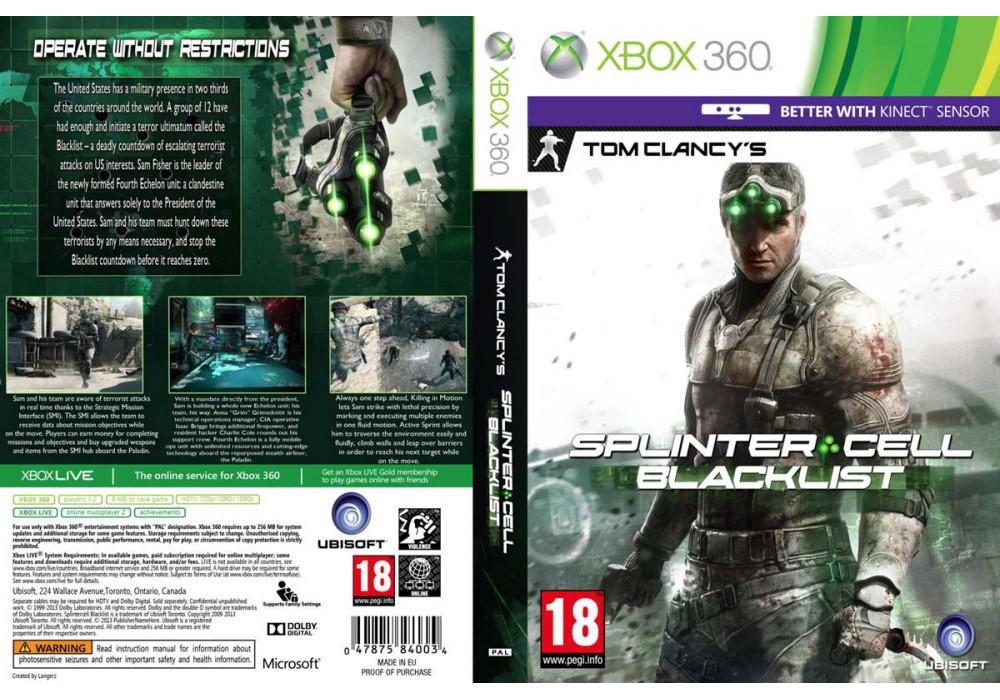 Игра для игровой консоли Xbox 360, Tom Clancy's Splinter Cell: Blacklist (2 диска)
