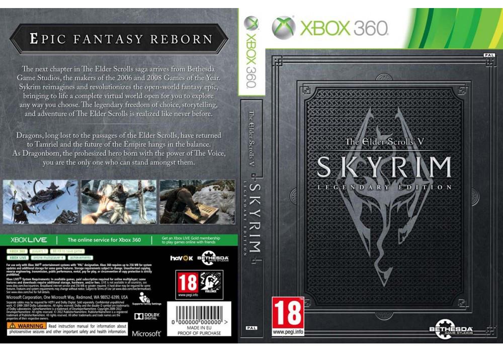 Игра для игровой консоли Xbox 360, The Elder Scrolls V Skyrim Legendary Edition (2 диска)
