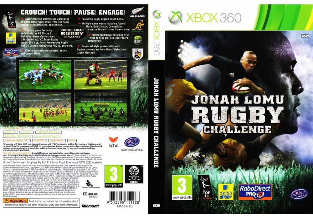 Игра для игровой консоли Xbox 360, Jonah Lomu Rugby Challenge 2