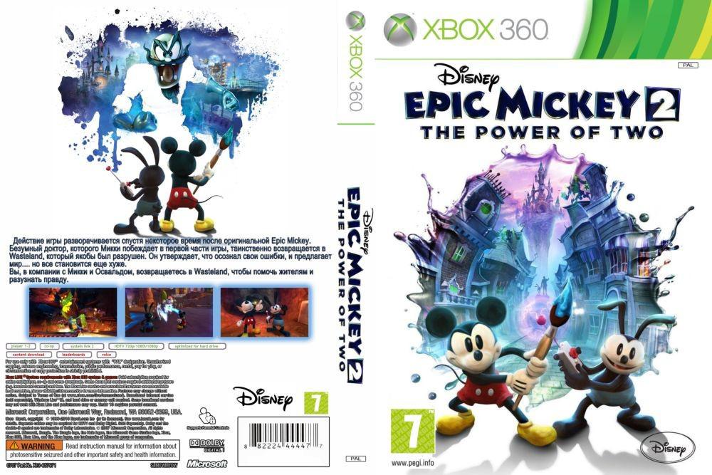 Игра для игровой консоли Xbox 360, Disney Epic Mickey 2: The Power of Two