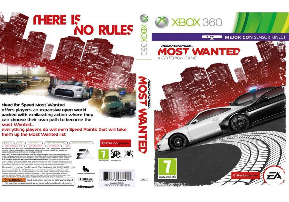 Игра для игровой консоли Xbox 360, Need For Speed: Most Wanted (2012, интереснее с Kinect)