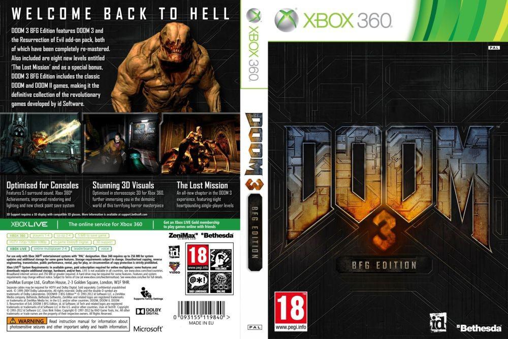 Игра для игровой консоли Xbox 360, Doom 3: BFG Edition