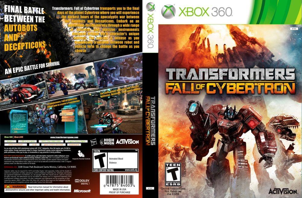 Игра для игровой консоли Xbox 360, Transformers : Fall of Cybertron