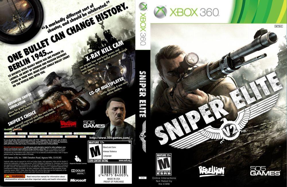 Игра для игровой консоли Xbox 360, Sniper Elite V2