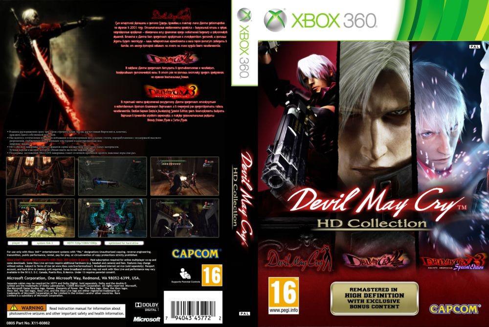 Игра для игровой консоли Xbox 360, Devil May Cry HD Collection