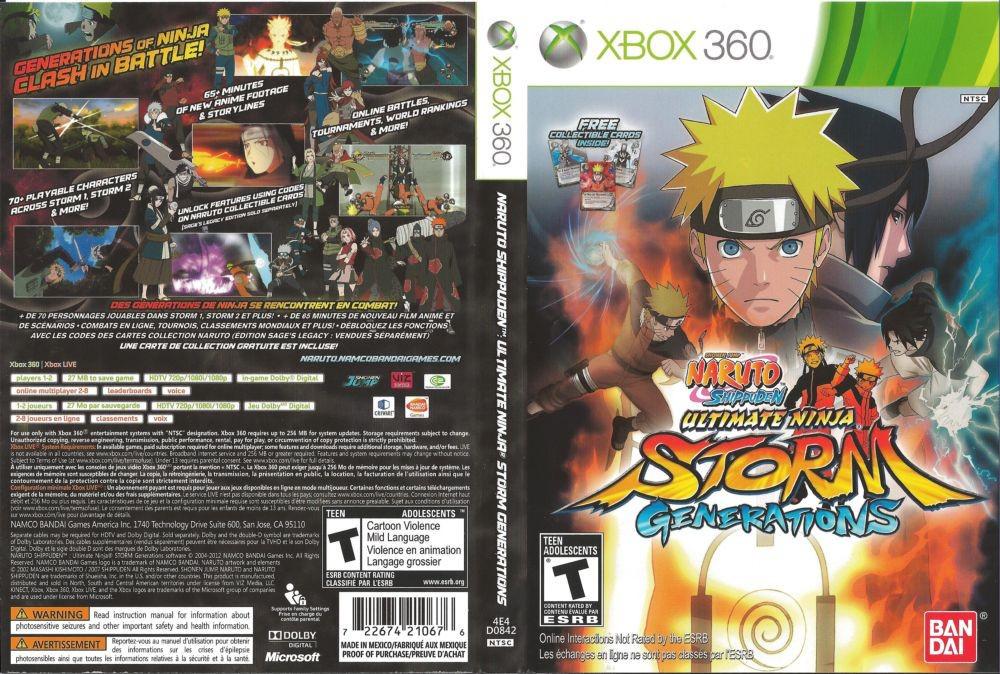 Игра для игровой консоли Xbox 360, Naruto Shippuden: Ultimate Ninja Storm Generations