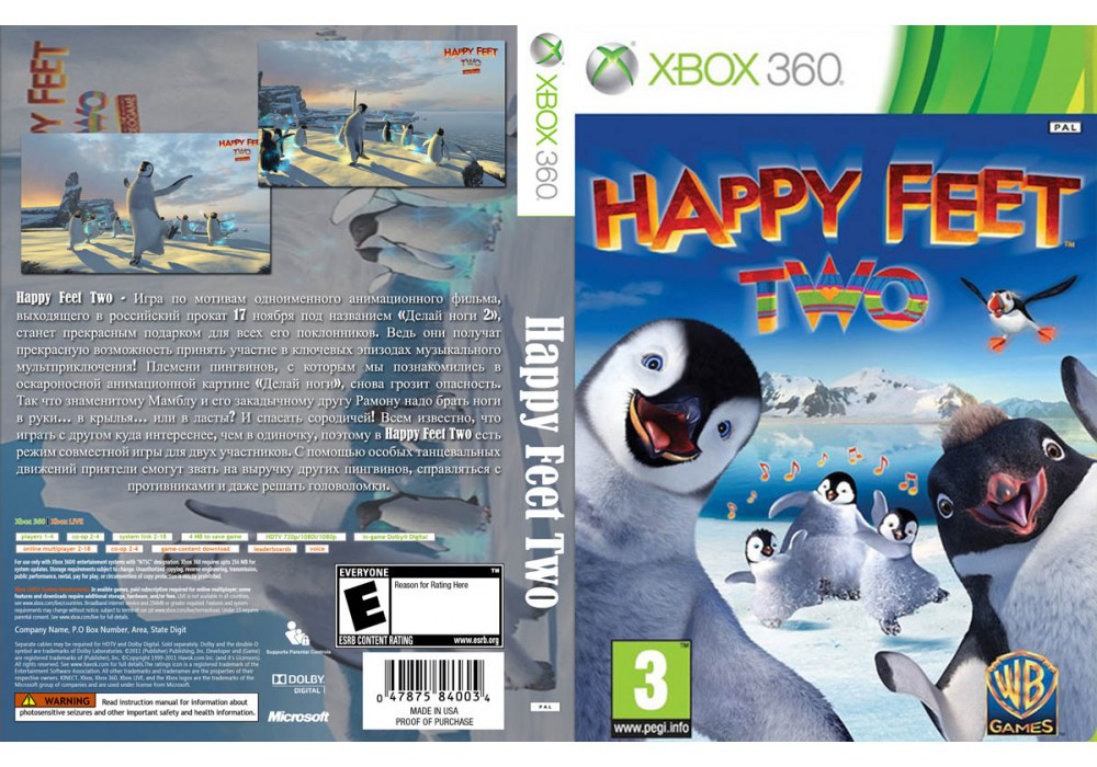 Игра для игровой консоли Xbox 360, Happy Feet Two: The Videogame