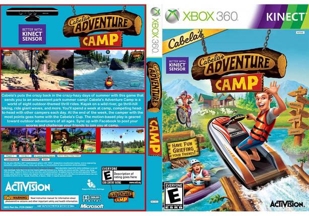 Игра для игровой консоли Xbox 360, Cabelas Adventure Camp [Kinect], фото 2
