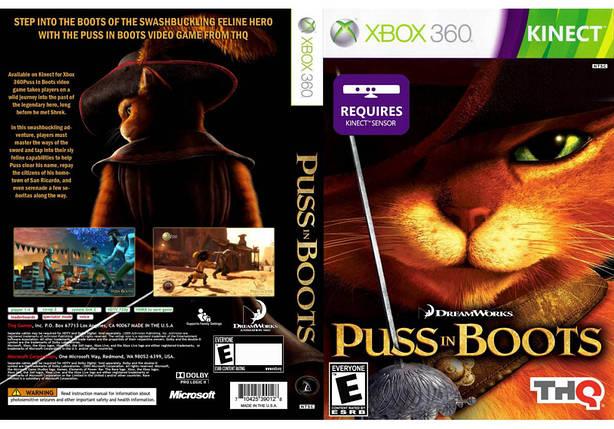 Игра для игровой консоли Xbox 360, Puss in Boots [Kinect], фото 2