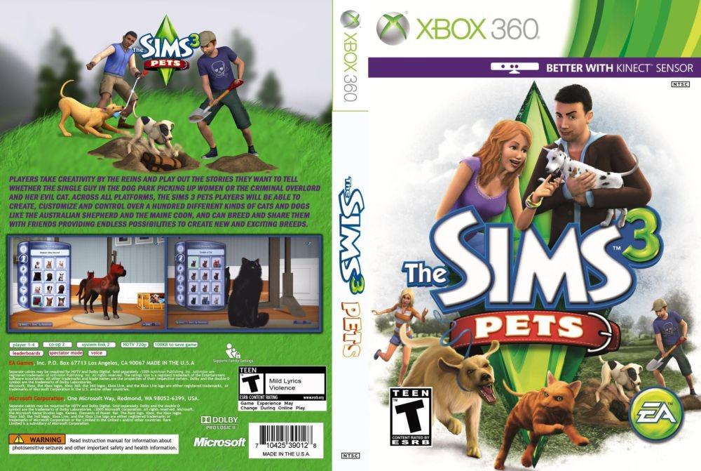 Игра для игровой консоли Xbox 360, The Sims 3: Pets [интереснее с Kinect]