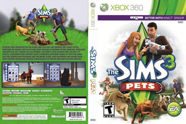 Игра для игровой консоли Xbox 360, The Sims 3: Pets [интереснее с Kinect], фото 2