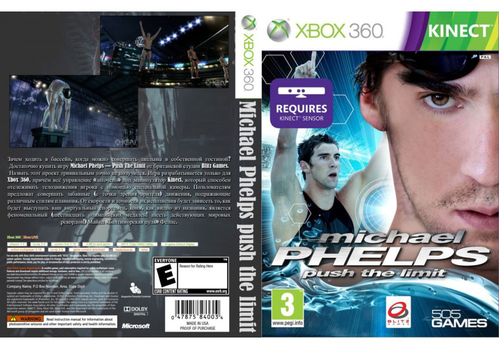 Игра для игровой консоли Xbox 360, Michael Phelps: Push the Limit [Kinect]