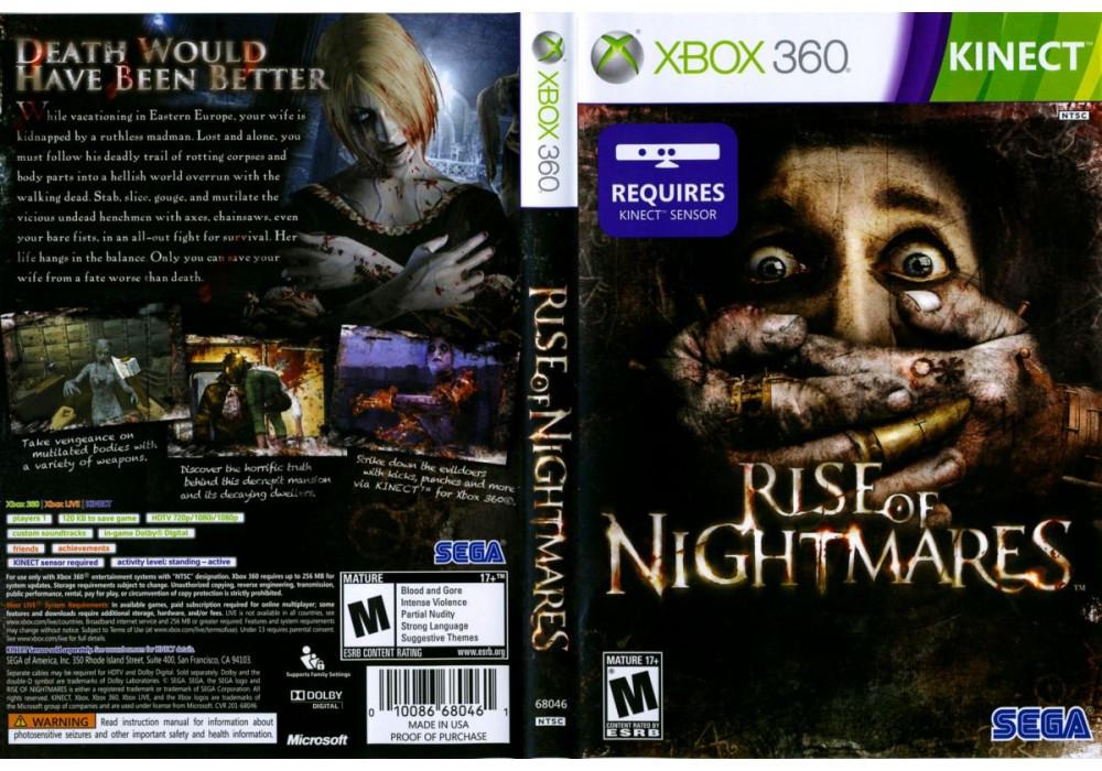 Игра для игровой консоли Xbox 360, Rise of Nightmares [Kinect]