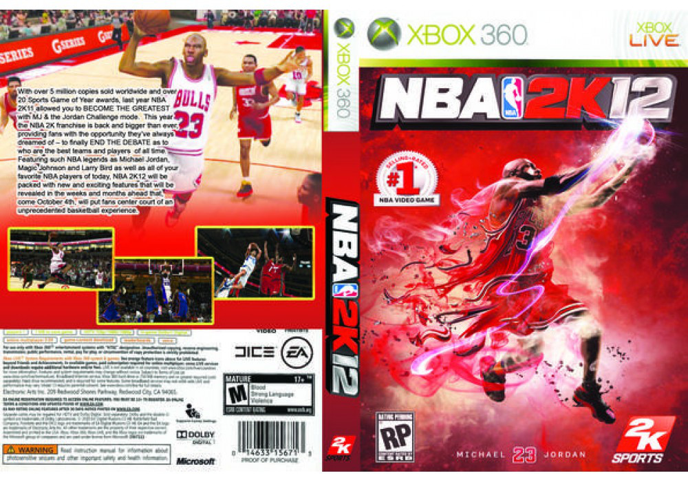 Игра для игровой консоли Xbox 360, NBA 2K12