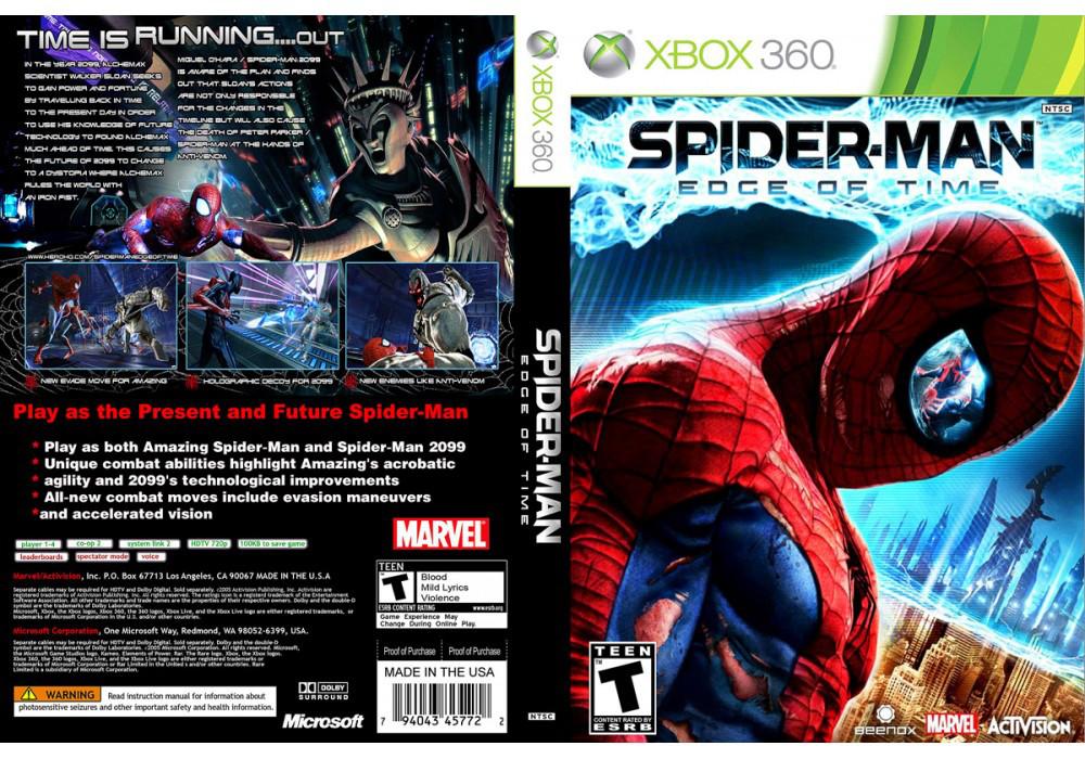 Игра для игровой консоли Xbox 360, Spider-Man: Edge of Time