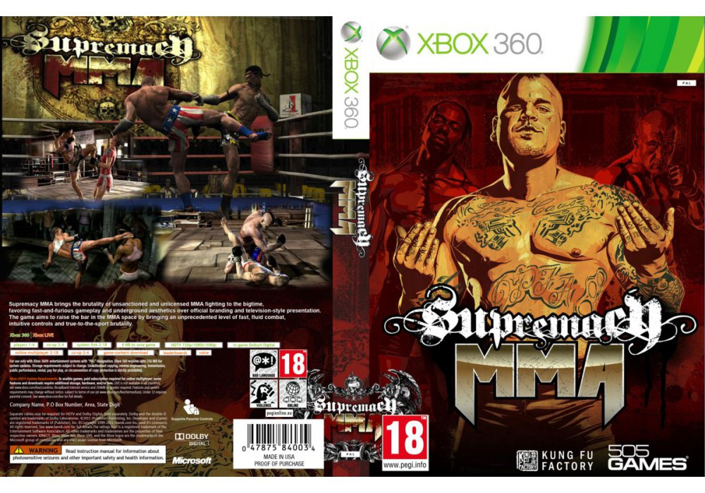 Игра для игровой консоли Xbox 360, Supremacy MMA