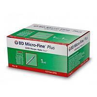 Шприц инсулиновый BD Micro-Fine (Микрофайн)  U-100 1.0 мл, игла 0.3х12,7мм (100шт в уп)
