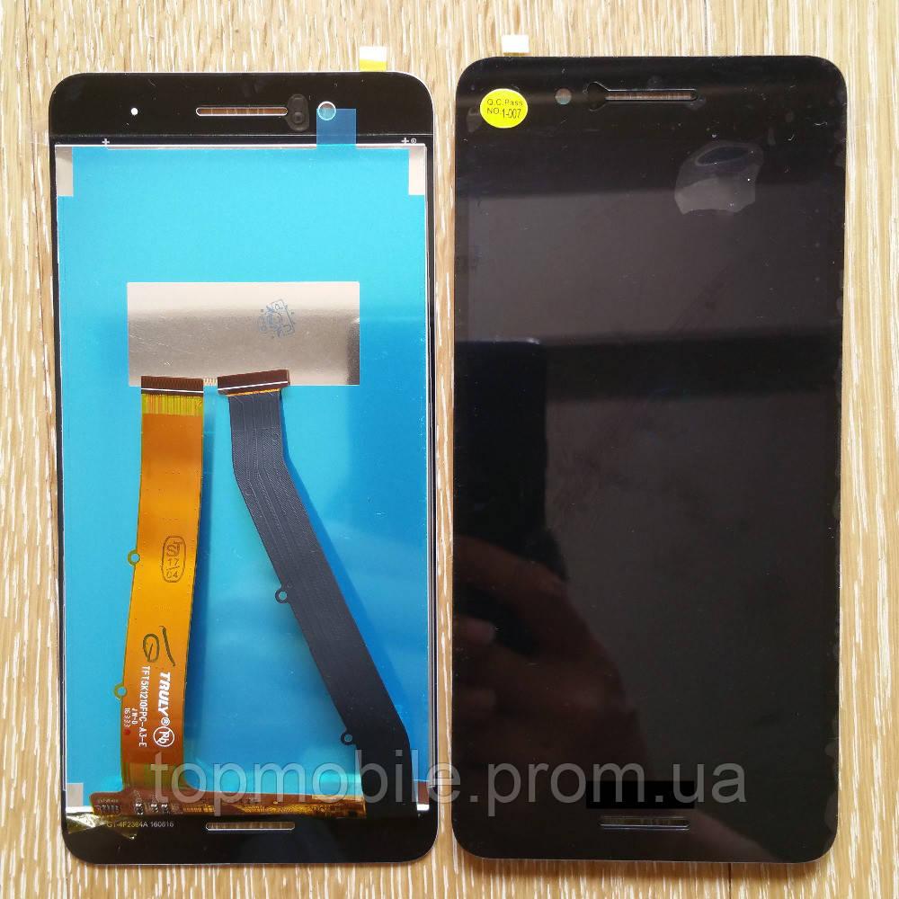 Модуль HTC 728G Desire Dual Sim   черный, с передней панелью (дисплей + сенсор)