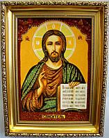 Иисус Христос і-08 Господь Вседержитель (дер. рамка)