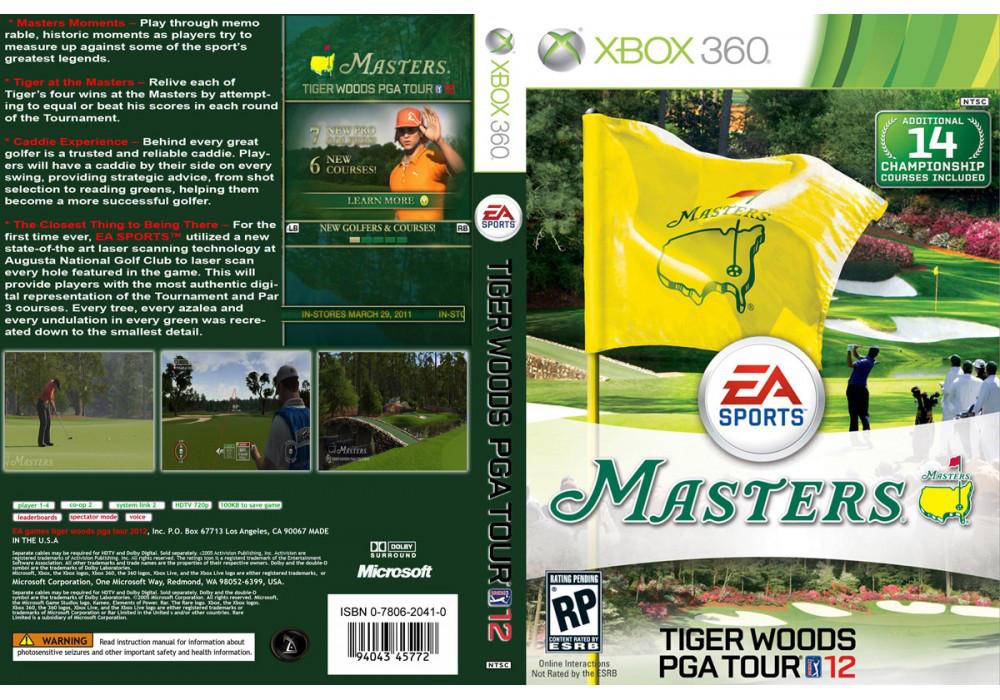 Игра для игровой консоли Xbox 360, Tiger Woods PGA Tour 12: The Masters